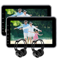 """Wholesale Video Control Systems - EinCar 10.1""""Tablet-Style Ultra-thin Headrest car DVD Player Rear-Seat Entertainment System USB SD HDMI,Remote Control Wireless IR Headphones"""