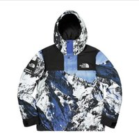 ruas japonesas venda por atacado-Marca de cor da neve da montanha jaqueta de maré marca Europa e os Estados Unidos vento rua jaqueta com capuz hip hop japonês Har
