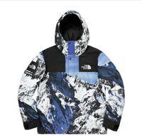 japanische hüften groihandel-Snow Mountain Farbe passenden Jacke Männer Gezeiten Marke Europa und den Vereinigten Staaten Straße Wind Jacke Hip Hop Kapuzen Windjacke japanischen Har
