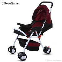Wholesale Lightweight Prams Strollers - Moonsater 1602 Foldable Baby Stroller Pram Universal Casters Easy Carry Umbrella Portable Lightweight Baby Carriage Push Cart B