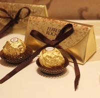 Wholesale wedding candy bag favors - Wedding Favors and Gifts Baby Shower Paper Candy Box Ferrero Rocher Boxes Wedding Favors Sweet Gifts Bags Supplies