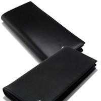 billetera cuero hombre negro largo al por mayor-Moda de lujo de los hombres MB carteras de cuero genuino tarjeta de visita caso negro largo titular de la tarjeta Cash clip wallet