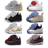Wholesale Multi Outlets - Factory outlet Men Basketball Shoes New 15 Sports Shoes jerseysneaker Black Grey Mens Trainer Comfortable Sneakers New Color authentic style