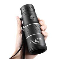 cep gece görüş monoküler toptan satış-16X52 HD Cep Monoküler Odak Optik Lens El Seyahat Teleskop Gece Görüş Dürbün Spotting Kapsam Kamp Avcılık