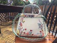 çanta tokaları toptan satış-Yumuşak tırnak süsleme ve renkli patternFashionable marka kadın çantası ile ara katman ve toka ile bir kadın çantası