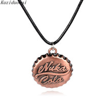 Wholesale fine online - Kuziduocai New Hot Fashion Fine Online Game Fallout 3 Jewelry Accessories Nuka Cola Drinks Necklaces & Pendants For Unisex N-444