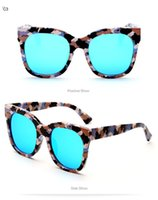 Wholesale big beautiful men - 2018 newest big square frame women sunglasses beautiful Color membrane peach fashion man sunglasses high end unisex glasses 97052