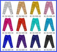 Wholesale girls trousers princess resale online - 12styles Girls Mermaid Sequins Leggings Skinny Stretchy Pencil Pants Baby Princess Pants party costume stage performance Trousers FFA1115