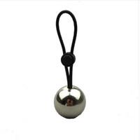 extensor de bolas al por mayor-Anillos de pene de silicona con una bola de metal Alargamiento de pene Colgador de peso Camilla Extensor Stretche
