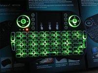 caja de tv android azul al por mayor-Fly Air Mouse 2.4G Mini i8 Teclado inalámbrico retroiluminado con luz de fondo Rojo, Azul, Verde, Control remoto para PC Android TV Box PS3 Xbox360