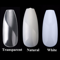 Wholesale acrylic nail shapes resale online - 600PCS Bag D Fake Nails Tips Ballerina False Nails Coffin Shape Full Cover Acrylic Nails DIY Nail Art Tips Decoration Manicure