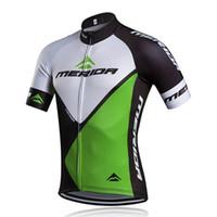 одежда для велосипедного спорта merida оптовых-MERIDA team Велоспорт с короткими рукавами трикотаж 2019 Мужчины Лето быстросохнущий Велоспорт Одежда Высокое качество ropa ciclismo U60105