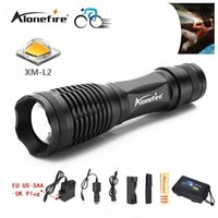 Wholesale driving range - Alonefire E007 CREE XM-L2 12W 4000 lumens LED flashlight Zoomable CREE outdoor tactical torch range 500M for 3 AAA or 1x18650 batteries