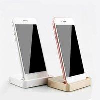 escritorio de cuna de manzana al por mayor-2018 Hot Universal Dock Charger Stand para iPhone 7 7 Plus 8 8 Plus Desktop Charging Dock Station Cradle para iPhone X con paquete al por menor