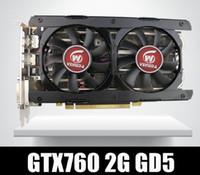 tarjetas de video nvidia al por mayor-Tarjeta de video Veineda GTX760 2GB GDDR5 256Bit 6004MHz DVI HDMI Más fuerte que GTX950, GTX750Ti