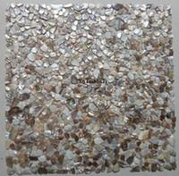 Wholesale pearl tile backsplash - 11pcs irregular natural colorful shell mosaic tile mother of pearl decorative kitchen bathroom wall shower backsplash wallpaper