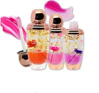flower jelly lipstick оптовых-Оптовая Золотая Фольга Цветок Желе Помада 5 Цветовая Температура Изменен блеск для губ Очаровательный Прочный Увлажняющий Корейский стиль Макияж