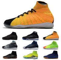 botas ii al por mayor-Nuevo ACC CR7 HypervenomX Proximo II DF IC MD Cup Zapatos de fútbol para hombre Neymar Soccer Boots Superfly Men Zapatos de fútbol Los mejores zapatos de fútbol