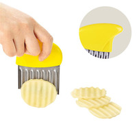 Wholesale tool cut potatoes french fries resale online - Stainless Steel Potato Slicer Wavy Cutter Multi function Potato knife Cutter Cut French Fries Kitchen Gadgets Vegetable Tools