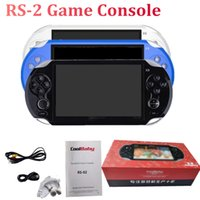 tela mp4 portátil venda por atacado-Handheld RS-02 Game Console 5.1 Polegada de Tela Grande 8 GB Portátil Game Player para GBA NES Jogo de Apoio MP4 Player Câmera de Vídeo TV Out TF cartão