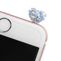 steckdose rhinestone großhandel-Strass Love Heart 3,5 mm Jack Anti Staubstecker Kopfhörer Stopper für Smartphone