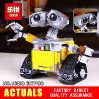 Wholesale idea models - Lepin 16003 687Pcs Idea Robot WALL E Building Set Kits Bricks Blocks Brock toy Model Bringuedos 21303 for children