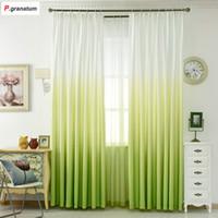 ingrosso tende verdi blu gialle-5 Colori Finestra Tenda Soggiorno Moderna Home Articoli per la casa Trattamenti in poliestere stampato 3d tende per camera da letto BZG1303