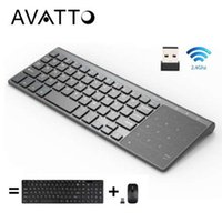 Wholesale laptop tablet pc windows resale online - AVATTO Thin GHz USB Wireless Mini Keyboard with Number Touchpad Numeric Keypad for Android windows Tablet Desktop Laptop PC