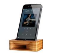 усилители оптовых-Бамбук телефон усилитель звука мобильный телефон стенд держатель усилитель звука Динамик универсальный многофункциональный натурального дерева кронштейн для iPhone Х 8 7