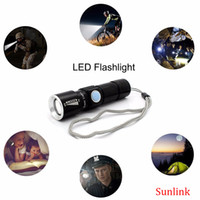 Wholesale Portable Torch Set - led flashlight cree outdoor multi tool set rechargeable flashlight for camp USB Mini Torch Flash Light Pocket Portable strong Zoomable Lamp