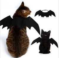 trajes de cosplay de qualidade venda por atacado-5 PCS Engraçado Gatos Traje Cosplay Halloween Pet Bat Asas Gato Morcego Traje Fit Partido Cães Gatos Jogando Pet Acessórios de Alta Qualidade