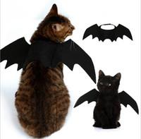 ingrosso ali per i costumi-5 pezzi divertenti gatti cosplay costume halloween pet ali di pipistrello gatto pipistrello costume fit cani da compagnia gatti che giocano accessori per animali domestici di alta qualità