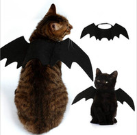 traje ajustado al por mayor-5 UNIDS Divertido Gatos Cosplay Disfraces de Halloween Mascota Alas de murciélago Gato Bat Costume Fit Parte Perros Gatos Jugar Accesorios para mascotas de calidad superior