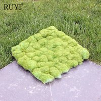 Wholesale artificial moss - Artificial Moss Grass Wall Green Plant Setting Wall For Home Company Building Decoration