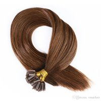 Wholesale u tip 22 613 for sale - Straight Nail U Tip Keratin Human Fusion Hair Human Hair Extensions g strand strands B Inch