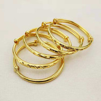 bracelets en or 24k achat en gros de-Joli bébé Bracelet Bracelets Haute Qualité 24K Or Jaune Plaqué Étoiles Bracelets Bracelet pour Bébés Enfants Beau Cadeau