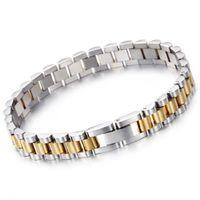 10mm 15mm Luxury Hiphop Stainless Steel Biker Bracelet Men Gold Silver Watchband Design Men's Women Bracelets & Bangles Jewelry for Lovers