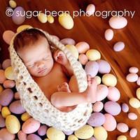 ensembles de vêtements pour bébés nouveau-nés achat en gros de-Sac de couchage pour bébé avec laine à tricoter Set Hiver Photographie Vêtements Pour New Born Photographie Accessoires Photo Props