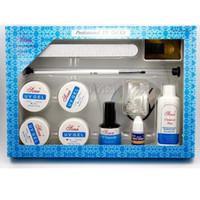 kits de gel de desenvolvimento uv venda por atacado-1 pc conjunto de extensão de unhas (top coat, construtor uv, dicas de unhas, escova, cola, arquivo, forma, limpador) uv gel kit / set para aluno