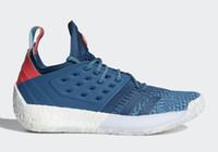 ingrosso anello di gancio all'ingrosso-Harden Vol 2 Blue Night Basket scarpe all'ingrosso negozio di alta qualità Harden scarpe spedizione gratuita per le vendite US7-US11.5