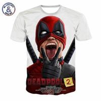 Wholesale teens summer clothes online - Summer New Marvel Tees Badass Deadpool T Shirt Men Women Funny D T shirt Casual Summer Tops Teen Clothing Camisetas Hombre