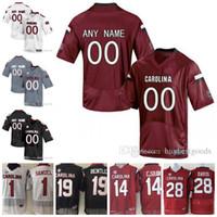 jerseys del balompié de la universidad del ncaa al por mayor-Camisetas personalizadas de NCAA South Carolina Gamecocks College Football Bentley Turner personalizada Cualquier nombre Número blanco negro rojo gris S-3XL