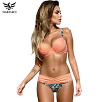 Wholesale Xxl Swimsuit Women - Sexy Bikinis Women Swimsuit 2018 Summer Low Waisted Bathing Suits Halter Top Push Up Bikini Set Plus Size Swimwear XXL