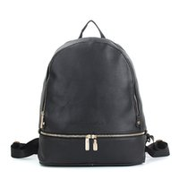 Wholesale Leather Black Backpack - 2018 High Quality Fashion Backpack Travel Bag Women PU Leather Brand Designer Cool Style Free Shipping