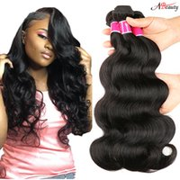 Wholesale nature weave - 8A Brazilian Body Wave Hair Bundles Unprocessed Mink Brazillian Peruvian Indian Malaysian Body Wave Remy Human Hair Extensions Nature Color
