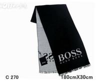 bufanda de lana negra al por mayor-Nueva bufanda de los pares de los hombres 100% a estrenar bufanda de lana blanca de dos lados negro de la marca de moda de las mujeres diseñador popular del invierno cálido flor bufandas