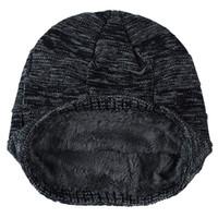 наборы зимних шарфов из шерсти оптовых-Шея теплее вязаная шапка шарф набор меховая шерсть подкладка толстый теплый вязать шапочки Балаклава зимняя шапка для мужчин женщин Cap Skullies