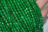 """Wholesale faceted jade - New 6mm Natural Emerald Faceted Loose Beads Gemstone 15""""AAA"""