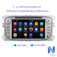 Wholesale ford car dvd player - Android 7.1.2 Two Din 7 Inch 1024*600 Car DVD Player For FORD Focus S-MAX Mondeo C-MAX Galaxy RAM 2G 16GB ROM WIFI GPS Navigation Radio