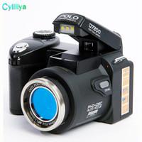 tarjeta de vídeo 8x al por mayor-Nueva cámara digital POLO D7200 33MP FULL HD1080P Zoom óptico 24X Enfoque automático Videocámara profesional MOQ: 1PCS